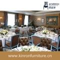 Cuir antique chaise et la table ronde utilisé meubles de restaurant hôtel zone roms formelle. salle à manger fixe
