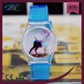 Chine gros usine de montre en plastique transparent le plus pop