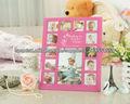 Impresión de seda de vidrio marco de fotos para el bebé crezca memoria
