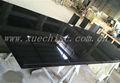 cocina moderna mesa de granito negro de la fábrica en venta