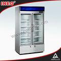 De bebidas enfriadores verticales/enfriador comercial/vidrio chiller puerta