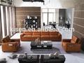Kg636-1 mobiliariodesala sofá de cuero suave línea de sofás de cuero