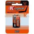 buena calidad de carbono de zinc batería de 9v
