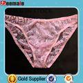 Rosa del cordón de la ropa interior sexy para hombre Calzoncillos Opacidad SC29