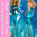 roupassexy 2pc paetês metálicos princesa vestido sereia traje fantasia de criança