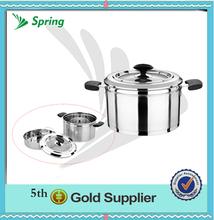 2014 nuevo stock de acero inoxidable olla/sopa de olla de vapor con