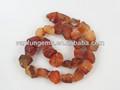 natural de pedras preciosas de ágata vermelha em bruto da costa