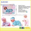 Mini muñeca de bebe recién nacido hecha de vinilo a pilas
