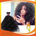 barato sin procesar virgen brasileña kinky afro rizado del pelo humano de extensión para las mujeres negro