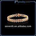 2014 caliente venta de joyería con chapado en oro diamante cz brazalete de tenis