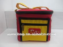 2014 epoxi de alta calidad logo más fresco bolsa de poliéster 600d con bolsillo con cremallera, bolsillo de malla