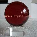 elegent color burdeos magia bola de cristal con base transparente