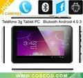 7 pulgadas de Tablet PC 3G con ranura para tarjeta SIM