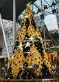 supermercado 2013 festvial de navidad el borde decorativo de la hierba grande del árbol de navidad