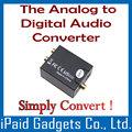 Analógico a Digital Optical Audio Coaxial Convertidor analógico estéreo señal de audio de R / L de entrada a la salida coaxial y