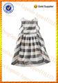Girls' Strip over Ruffle Hem Sleeveless Block Summer Casual wear Dress
