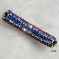 atacado argila pave contas tubo para pulseiras de strass alta qualidade tubo de contas de argila