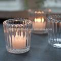 Suporte de vela de vidro cônico