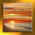 de alta calidad de la puesta del sol lienzo abstracto pintura al óleo