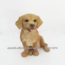 perro de resina preciosa figura