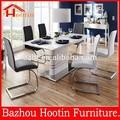 2015 nuevo diseño de alta pintura brillante tapa de la mesa y estante de metal y base de mesa de comedor para mueblesdecomedor