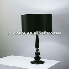 Negro mesa de la sala t1129-1bl lámparas