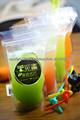 Resellable de pie bolsa de plástico para el jugo
