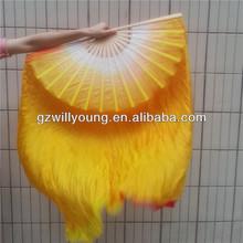dane del vientre velos abanico de seda, doble de los lados velos el más reciente de seda real de danza del vientre abanico velos