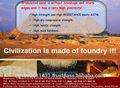 Areia de fundição fundição/metal fundição em areia