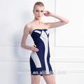 sexy strapless vestido de vendaje diseños de mosaico para los vestidos