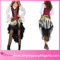 nuevo diseño de venta al por mayor 3 piratas piezas del tesoro adultos traje de artículos de sexo para las mujeres