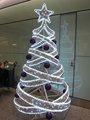 interior decorado fita de cetim de natal da árvore de led de iluminação da árvore de natal