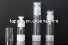 pequeño vacías de aluminio de la bomba sin aire de la botella de cosméticos para el envasado de detergente