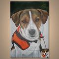caliente venta perro pintura al óleo retrato