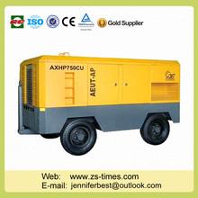 portátil de aire compresor de tornillo de muebles pies cúbicos por minuto de la industria de la minería del compresor de aire