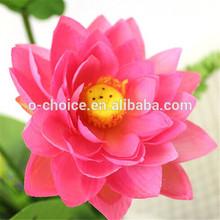 2014 nueva llegada decorativo flor de loto artificial