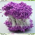De color púrpura 6cm longitud artificial pistilo& estambres para decoración de la torta/que hace de la flor