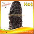 cuerpo onda encaje frente peluca para africano americano virgen brasileña cabello humano completo encaje pelucas para las mujere