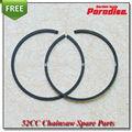 52cc58cc motosierra/sierra cadena resistente al desgaste del pistón anillo