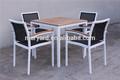 ALUMINIO JUEGO DE COMEDOR teca muebles de exterior de aluminio mesa de comedor y sillas batyline