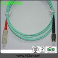 SC/APC-FC/APC Fibra óptica patch cord SM Simplex OM3 Aqua, Fabricante de China, RoHS estándar