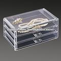 2014 acrílico de alta qualidade caixa de jóias de peças