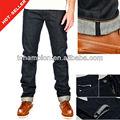 ( #tg512m) 2013 nuevo estándar salopette+jeans+uomo mezclilla orillo fabricante de jean