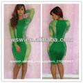 yh010 2014 reciente venta caliente nueva llegada sexy muy hermoso verde menta vestido