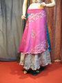 sari de seda falda envoltura hecha de sari reciclado