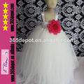 plus récent robe de tulle robe de mariée blanche duveteuse avec crochect supérieure et grande fleur