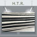 hilado teñido de tela a rayas con blanco y negro a rayas