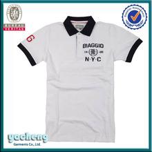 de alta calidad polo bordado logotipo de la camisa para los hombres