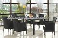Conjunto muebles de Jardín en Poly Ratan Aluminio 6+1