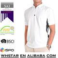 blanco camisa de polo del color del contraste
